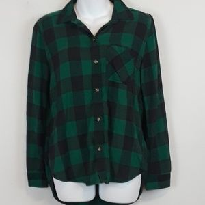 American Eagle plaid button down shirt